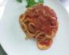 pici mit aglione in einer pikanten roten sauce
