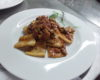 Paccheri with red sausage sauce and fresh porcini mushrooms