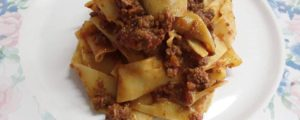 Pappardelle with wild boar braised in red wine