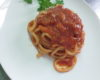 Pici with aglione in a spicy red sauce