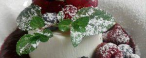 Zuppetta di frutti di bosco e panna cotta